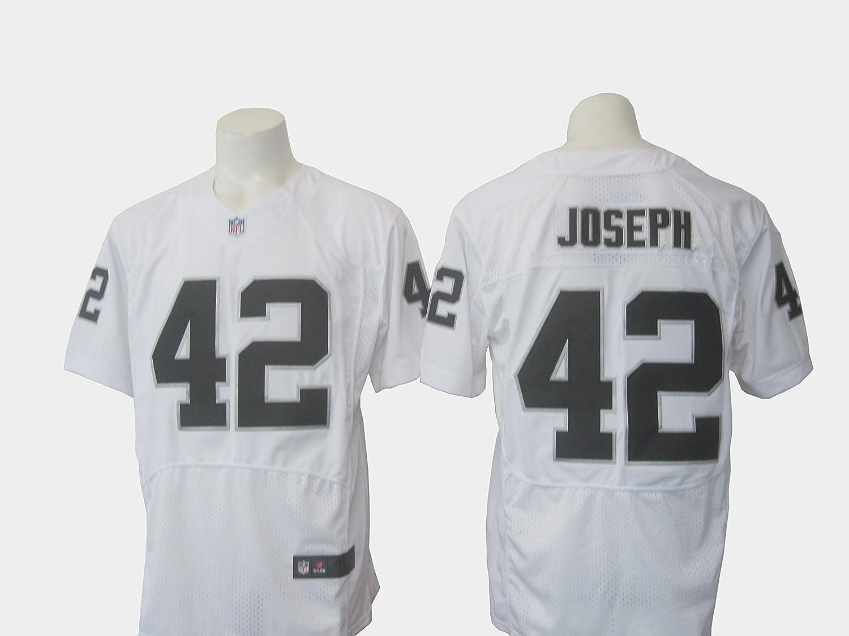 check out dfbbf f6791 Oakland Raiders #42 Karl Joseph White Men's Football Jersey ...