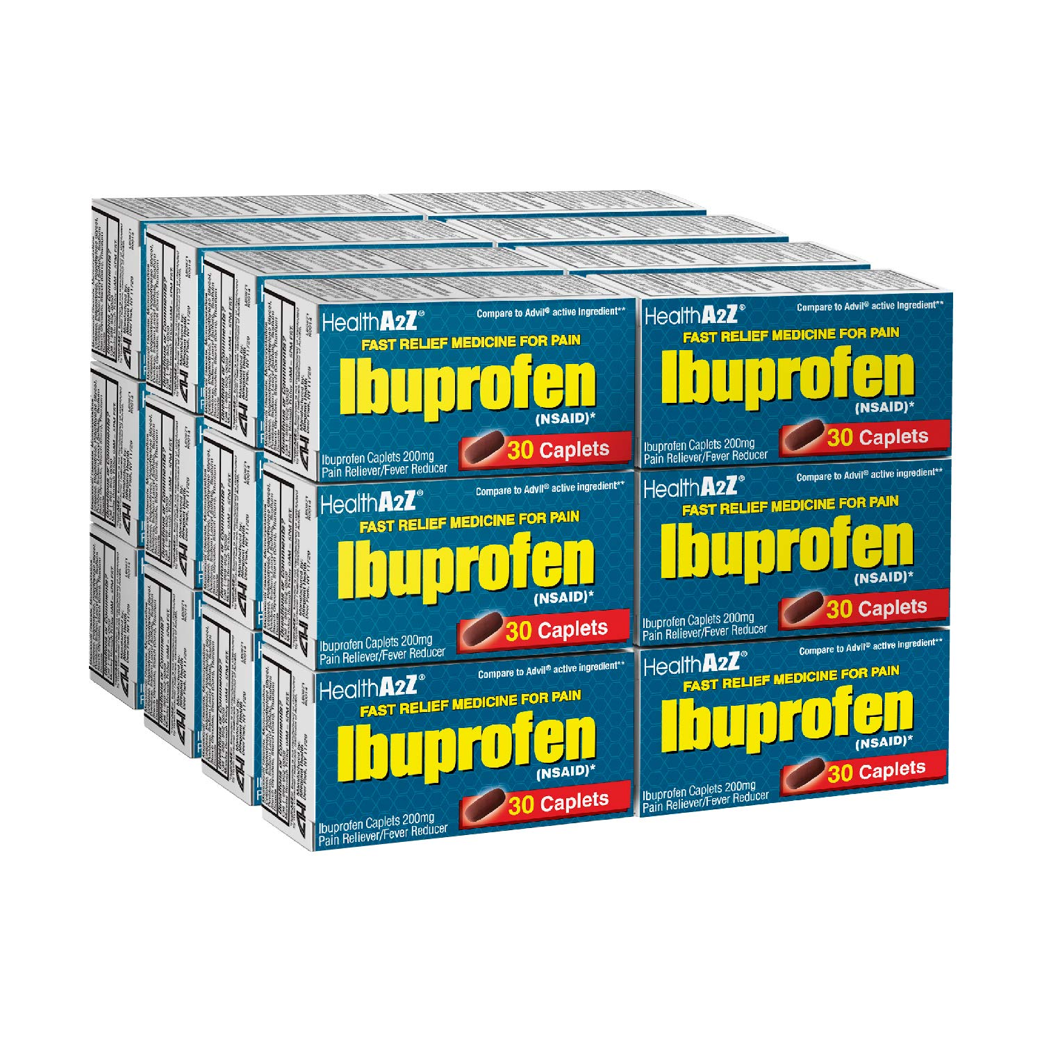 HealthA2Z Ibuprofen Tablets 200mg, 24X30 Counts, Value Package by HealthA2Z