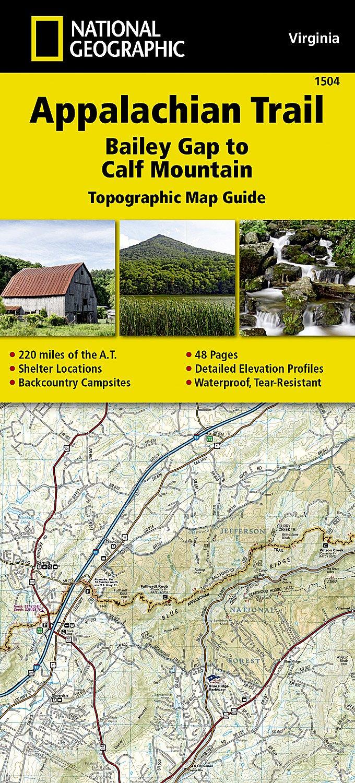 Amazoncom Appalachian Trail Bailey Gap To Calf Mountain - Calf map