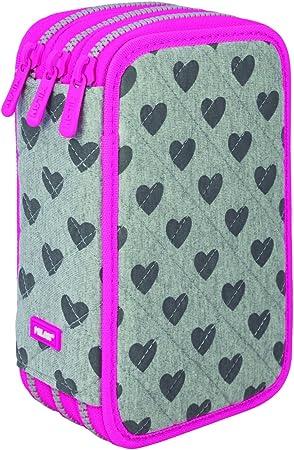 Milan Hearts 081364HE Estuches, 20 cm, Gris/Rosa: Amazon.es: Equipaje