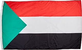 product image for Annin Flagmakers Model 197849 Sudan Flag Nylon SolarGuard NYL-Glo, 5x8 ft, 100% Made in USA to Official United Nations Design Specifications