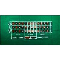 YH Poker Fieltro de Mesa de Casino con Diseño de Ruleta DE 91 x 182 cm