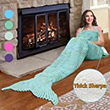 Amazon Price History for:Premium Mermaid Tail Sherpa Blanket, Super Soft Warm Knitted Mermaid Throws with Lambswool Sherpa Lining Anti-slip Shoulder Strap The Best Gift for Girls Women Adult Teens By Catalonia Green