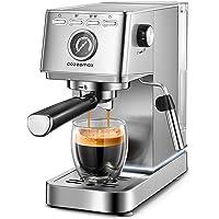 Espresso Machine, 20Bar Compact Espresso and Cappuccino Maker with Milk Frother Wand, Professional Espresso Coffee…