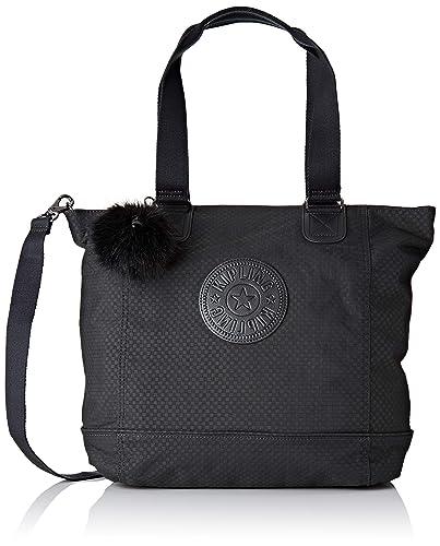 cea607b447 Kipling Shopper C, Women's Tote, Black (Powder Black): Handbags ...
