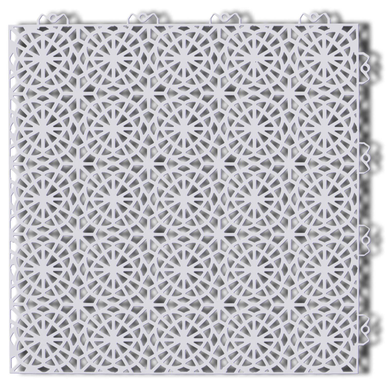 Mats Inc. Bergo XL Outdoor Deck Tiles, 6.15' x 8.61', Shadow Grey