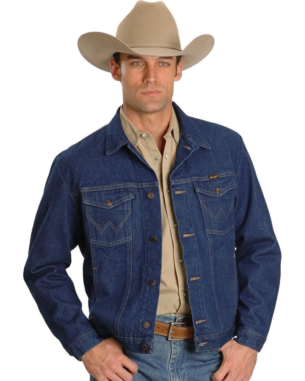 Wrangler Men's Unlined Denim Jacket, Denim, Large