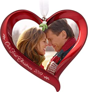 Hallmark Keepsake Ornament 2019 Year Dated Our First Christmas Heart Photo Frame