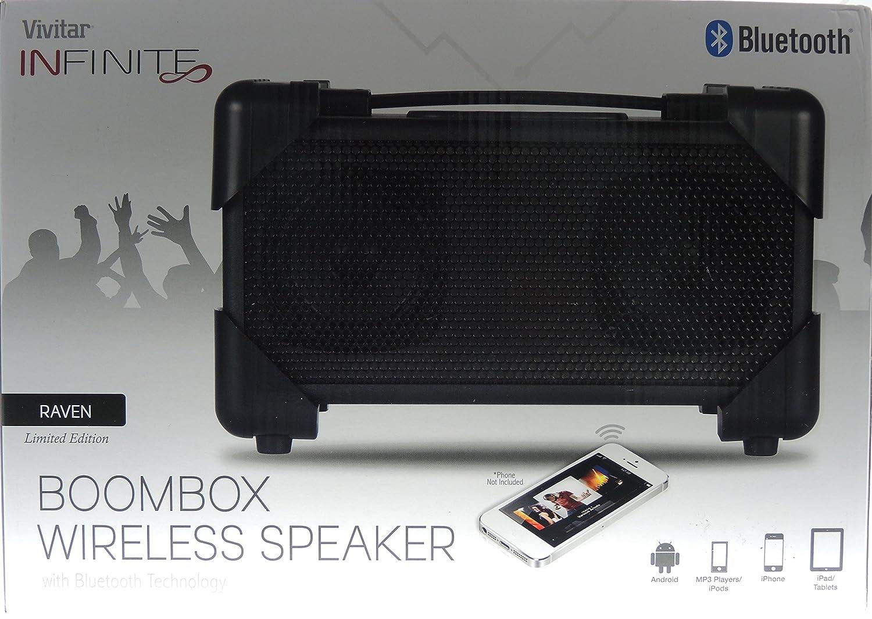 Vivitar Bluetooth Pill Wireless Speaker Wire Center Grvkmr123 Circuit Diagram For Rc Cartransmitter Amazon Com V143bt Blk Retro Boom Box Rh Speakers Like 2857717