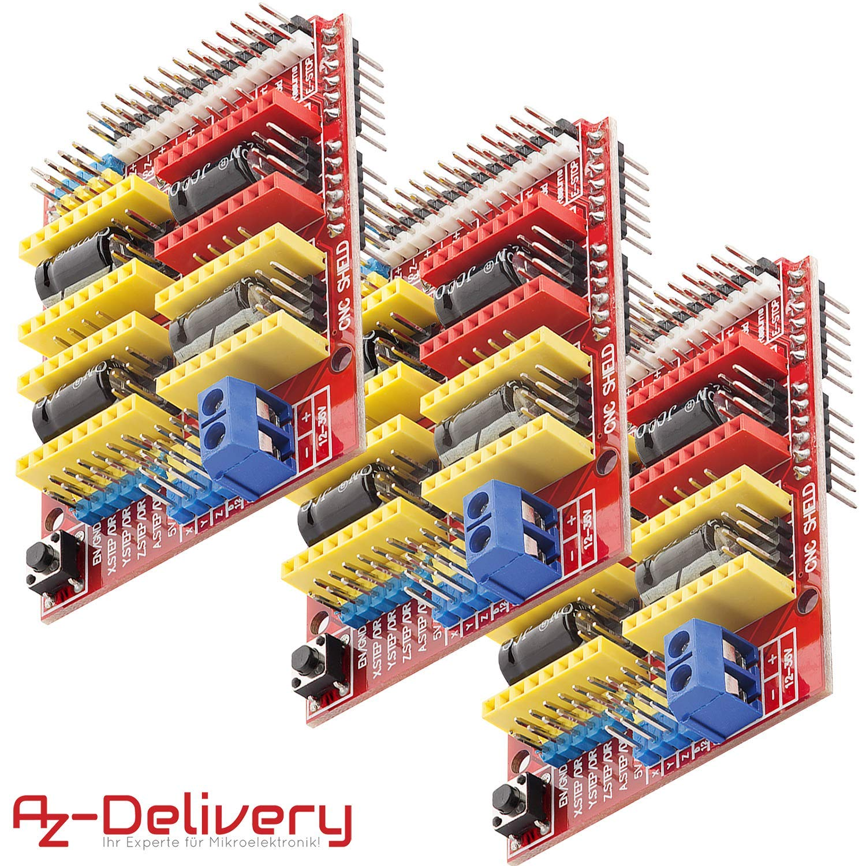 AZDelivery 3 x CNC Shield V3 Placa de Desarrollo para Motor Paso a ...
