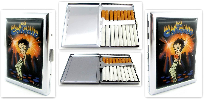 Betty Boop Zigarettenetui 9 Zigaretten - kommt im Samtsä ckchen - Motiv 1 PF