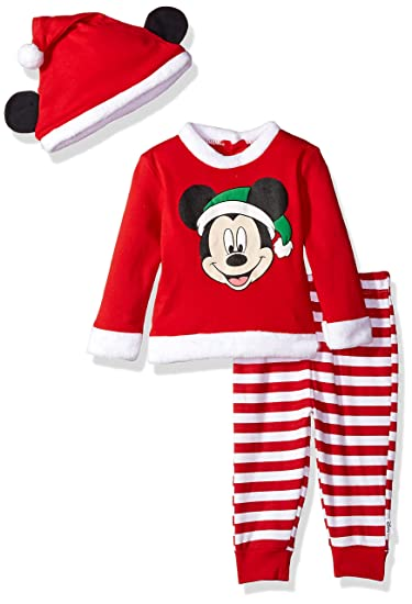 fc38b5af8 Amazon.com  Disney Baby Boys  Mickey Mouse Holiday 3-Piece Pant Set ...