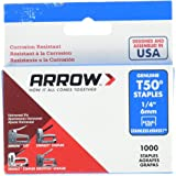 Arrow Fastener 504SS1 1/4 in. T50 Stainless Steel Staples
