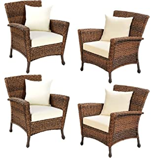 Charmant W Unlimited Rustic Collection Outdoor Furniture Light Brown Rattan Wicker  Garden Patio Furniture Bistro Set,