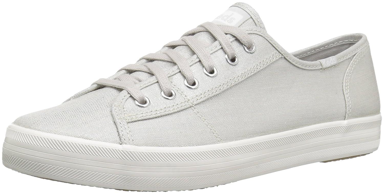 Keds Women's Kickstart Metallic Linen Sneaker B072Y6GWYQ 8.5 B(M) US Silver