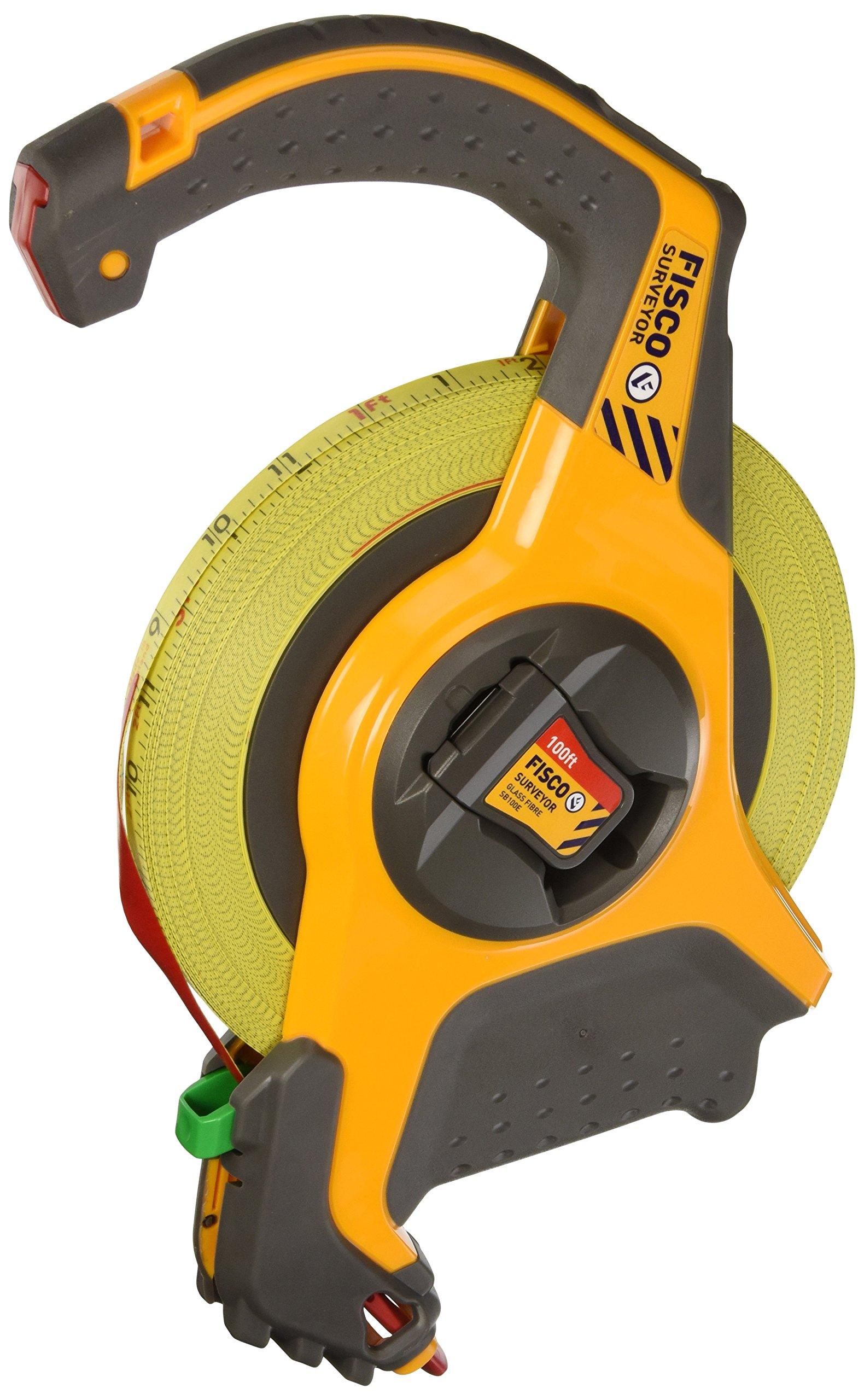 Fisco Tools SBE100E Engineer-Feets Fiberglass Long Tape, 1/2-Inch by 100-Feet