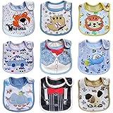 Haimoburg 9 Pack Wasserdicht Babylätzchen Baumwolle Klettverschluss