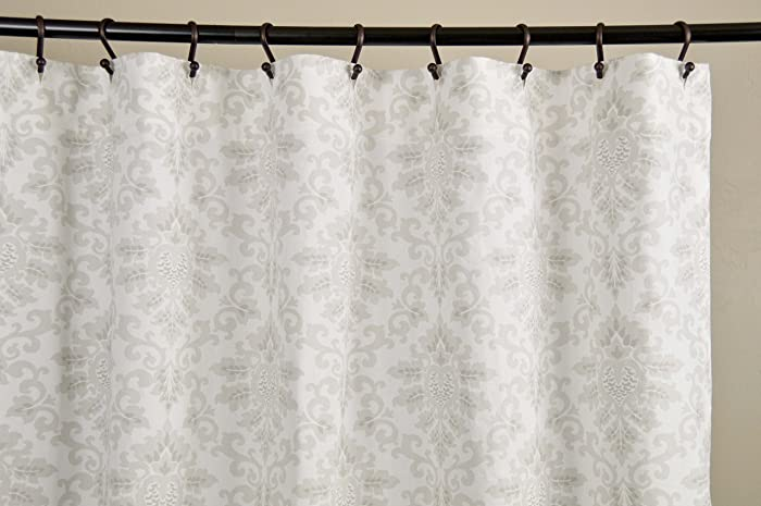 Amazon.com: Fabric Shower Curtain - CECILIA FRENCH GRAY - 72\