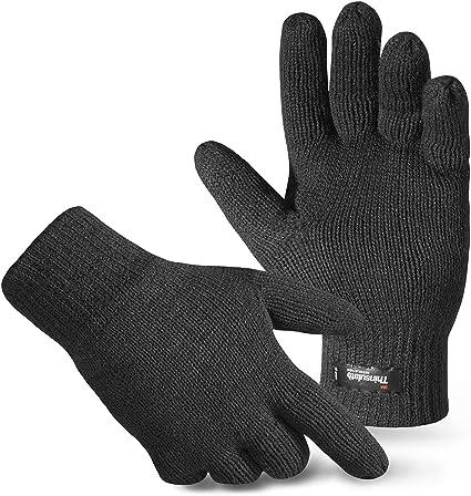 Handschuhe Strickhandschuhe Fingerhandschuhe Winterhandschuhe Anthrazit S-XXL