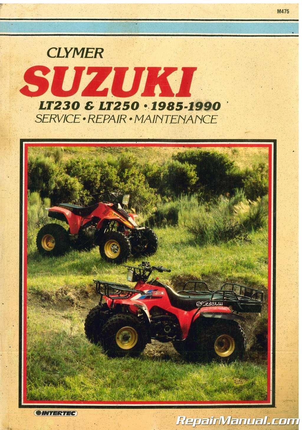 m475 1985-1990 suzuki lt230 lt250 atv repair manual by clymer paperback –  2004