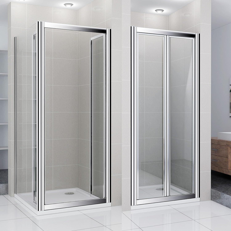 Mampara de ducha cabina de ducha rectangular cuadro dopeul puerta giratoria ducha 90 x 80 cm/incluye de ducha: Amazon.es: Hogar