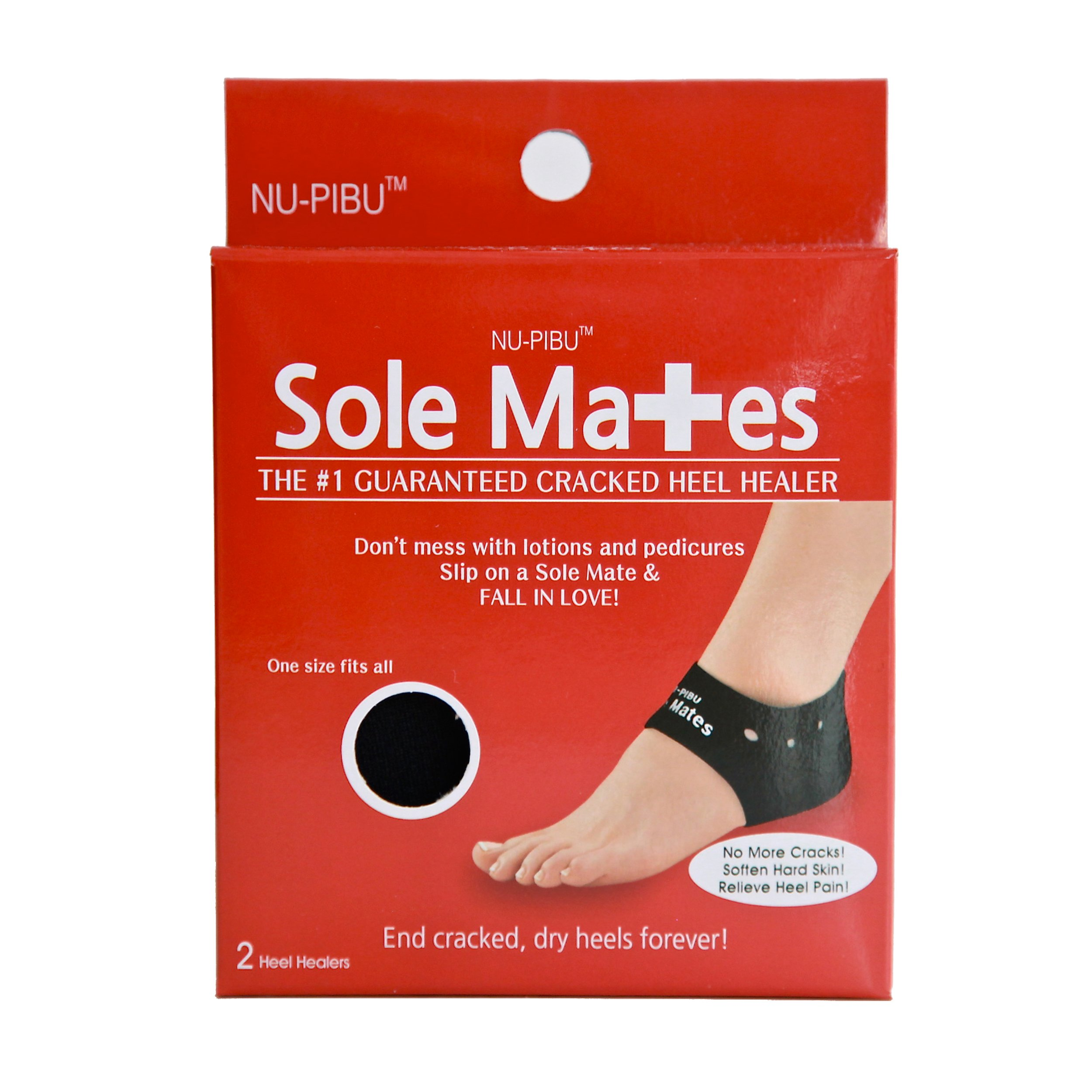 Sole Mates - Cracked Heel Healers!! You can begin healing painful cracks and rough, dry heels instantly! Don't mess with lotions and pedicures- heal your cracked skin naturally from the inside out! by NU-PIBU