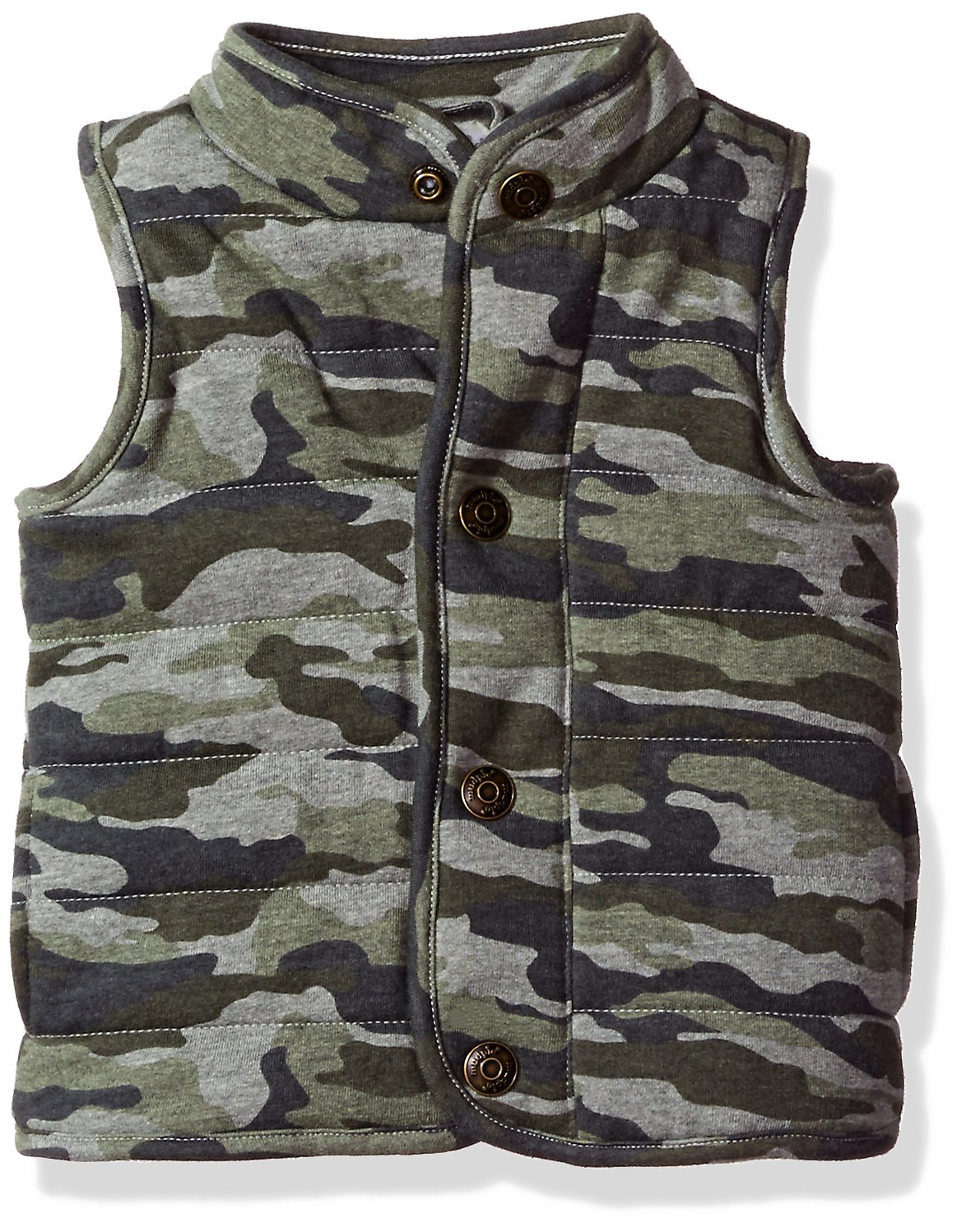 Mud Pie Baby Boys' Toddler Quilted Vest Sherpa Lined, camo, LG/ 4T-5T by Mud Pie