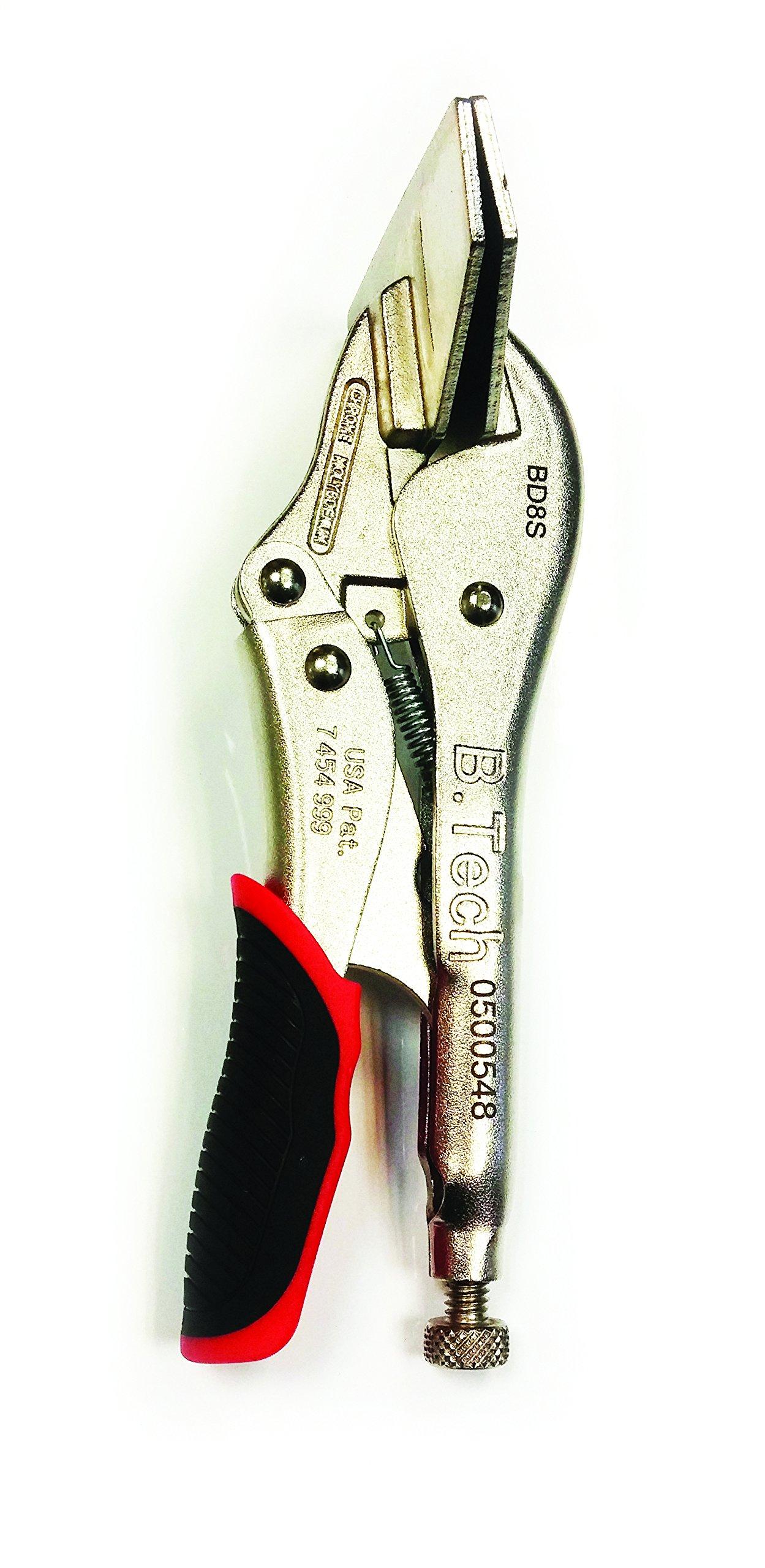 B.Tech 8'' adjustable quick release sheet metal pliers.