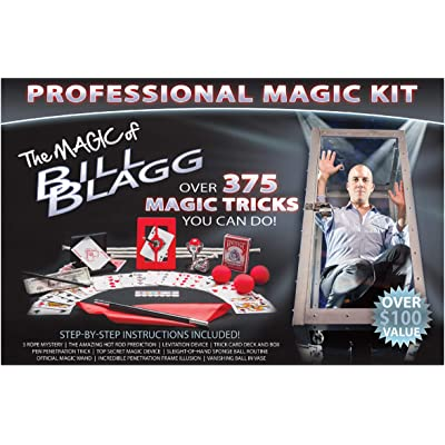 Bill Blagg Professional Magic Kit - Filled with Professional Tricks for Kids, Teens and Adults - Over 375 Incredible Tricks - Ideal for Beginners of All Ages!: Toys & Games