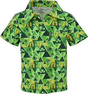 cce26575 Unique Baby Boys St Patricks Day Clover Print Button Up Collared Polo Shirt