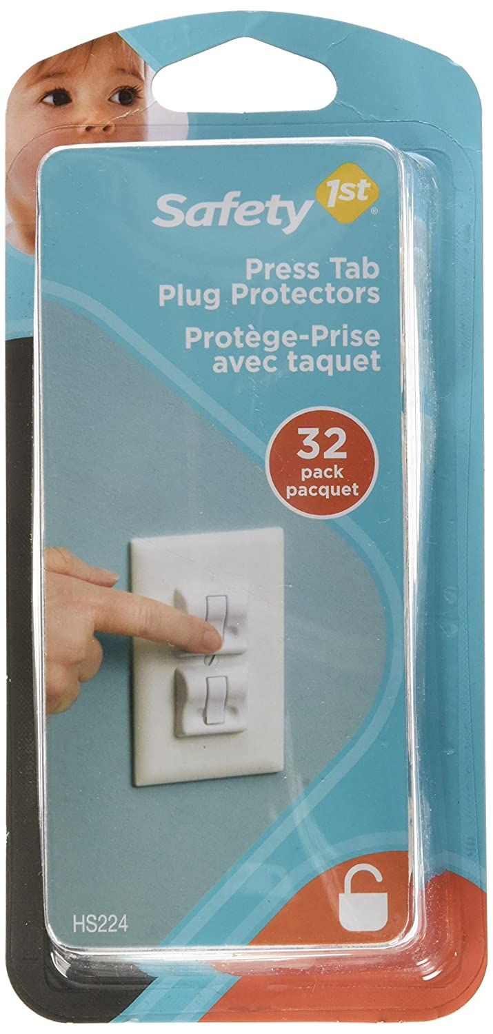 Safety1st Press Tab Outlet Covers - 32 Pack, White Dorel Juvenile Canada HS224