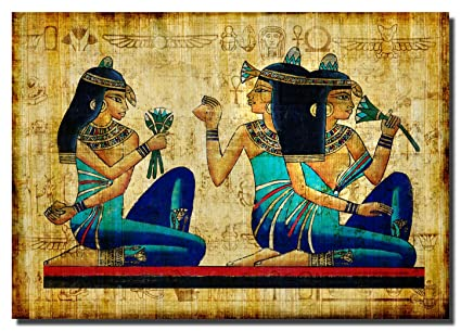 Amazon.com: Egyptian painting Art Canvas Wall Art Beautiful Picture ...