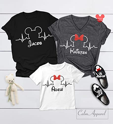 e94de1807 Amazon.com: Heartbeat Shirts, Minnie Mickey Mouse T-Shirts, Family ...