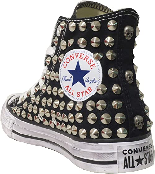 all star converse nere borchie