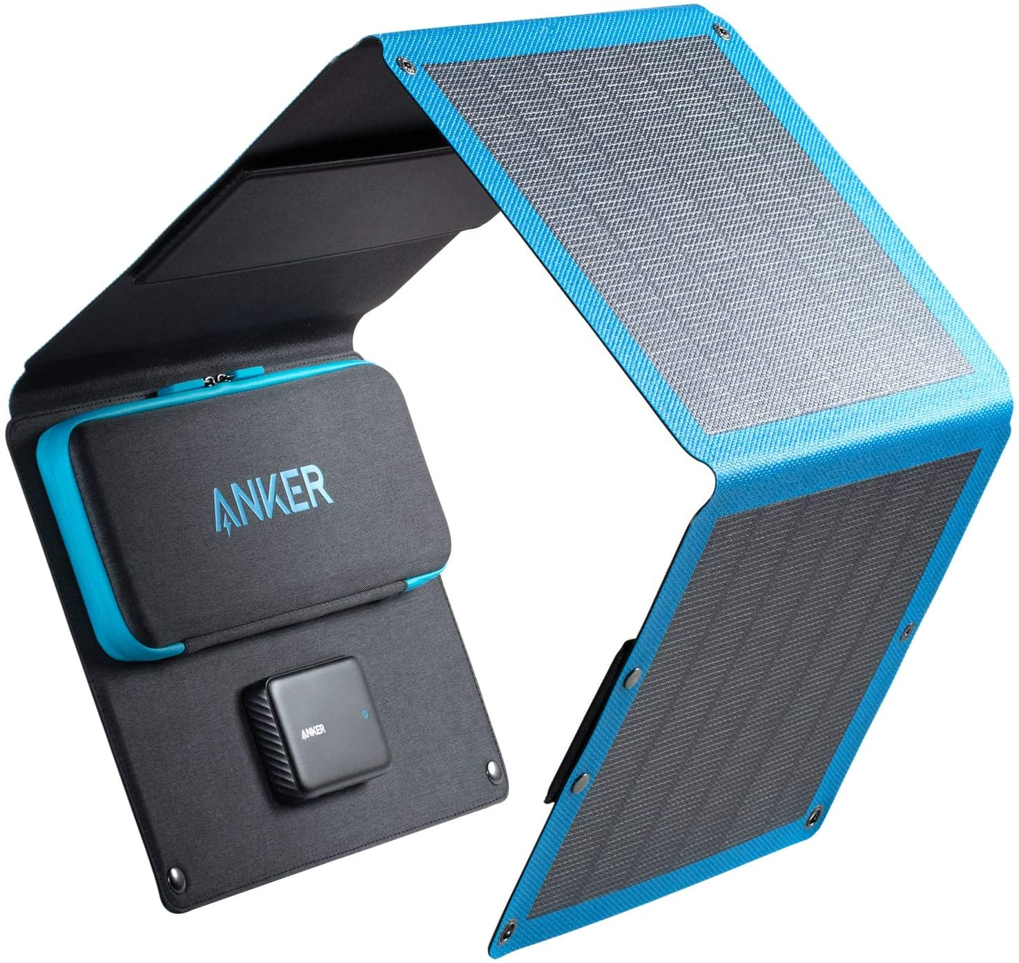 Solar Charger, Anker 24W 3-Port USB Portable Charger with Foldable...