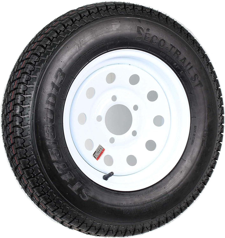 Trailer Tire Rim ST175/80D13 175/80 D 13 B78-13 LRC 5 Lug Wheel White Modular
