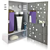 The Shlocker, Waterproof Shower Locker Caddy. Triple Combination Lock Box Shower Storage with Rust Proof Super Strong Suction Cups. Secure. Convenient. (Gray)