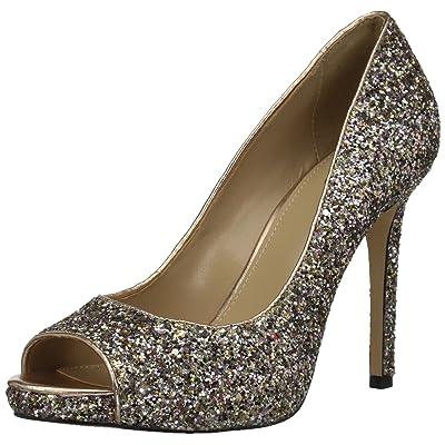 Brand - The Fix Women's Rosalee Peep Toe Platform Stiletto Dress Pump: Shoes