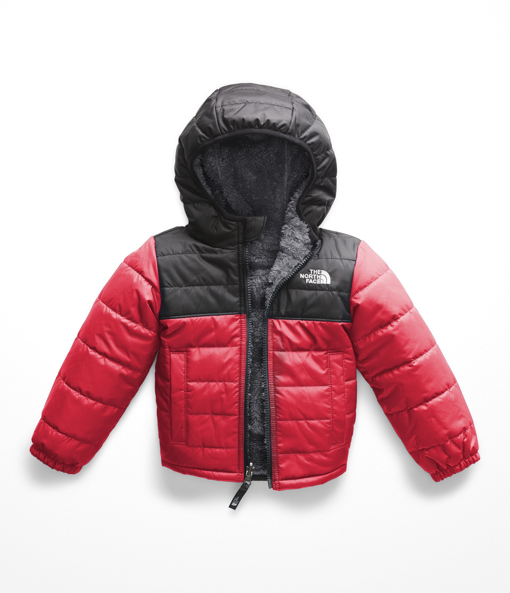 The North Face Toddler Boy's Reversible Mount Chimborazo Hoodie, TNF Red/TNF Black, 4T by The North Face