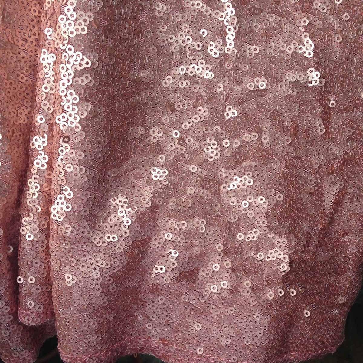 Lentejuelas tela rosa para coser disfraces Tejido de Encaje ...