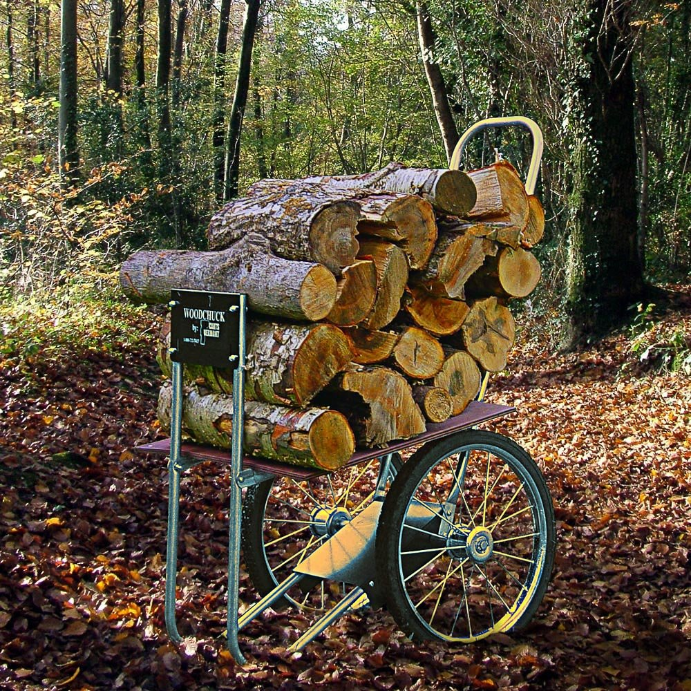 Amazon.com : Carts Vermont Super Chuck Firewood Cart : Wood Cart ...