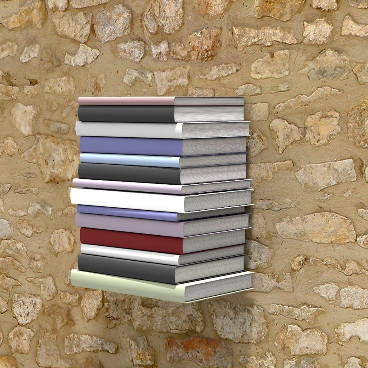 Libri Colonna home3000 La mensola Invisibile Piccolo in Bianco 1/Pezzi per Un 33/cm 30/cm