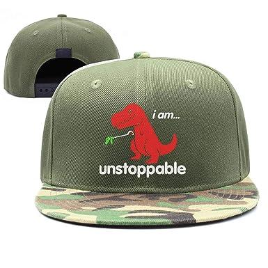 ab7ba58e3e747 Amazon.com  FJIAJGKGA Unstoppable T-Rex Fashion Baseball Hat Army ...