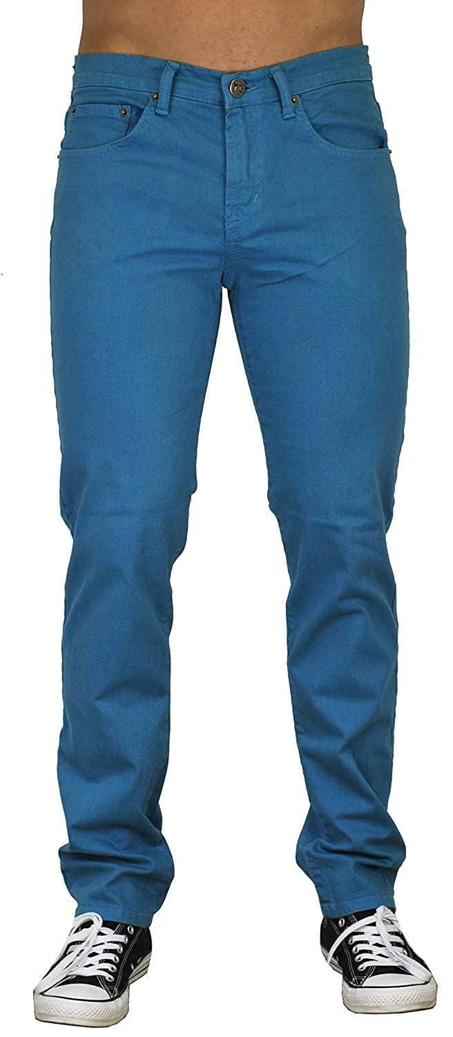 hot sale 2017 Blu Mens Slim Fit Jeans 20 Colors Soft Stretch