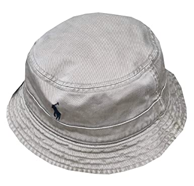 a7422a649a8 Ralph Lauren Polo Mens Reversible Pony Logo Bucket Hat at Amazon Men s  Clothing store
