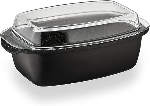 22 Cm Antiadherente Cazuela Olla Cocina Pan Olla Tapa de cristal Plato Servir Fiesta