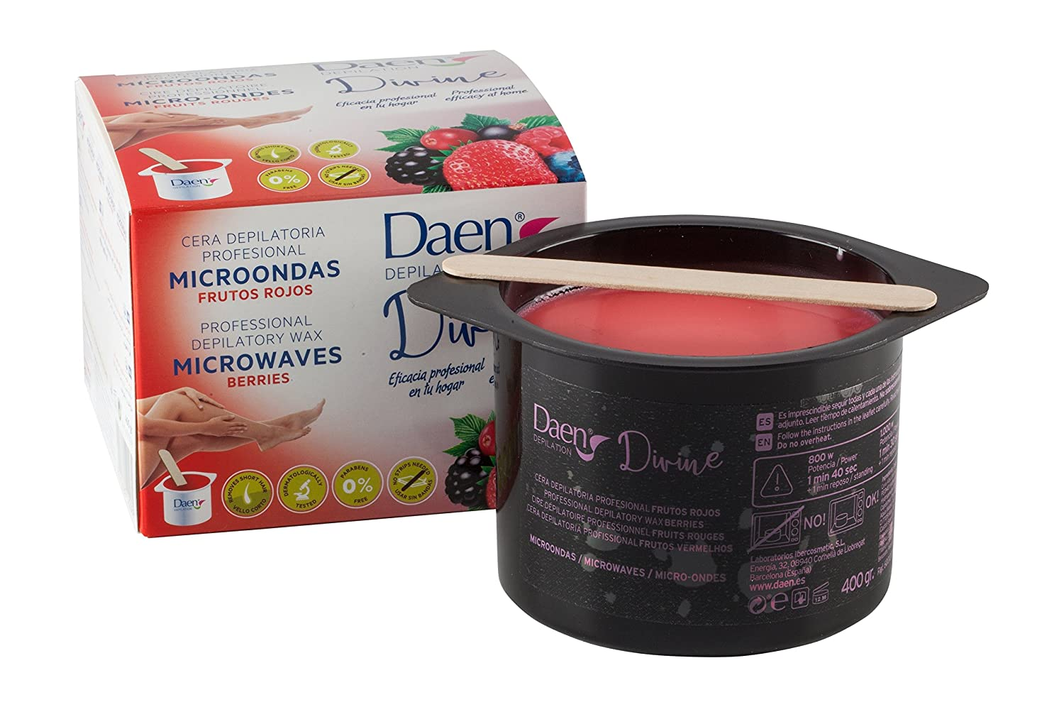 Daen 400 g Divine Berries Microwavable Wax by Daen: Amazon.es: Salud y cuidado personal