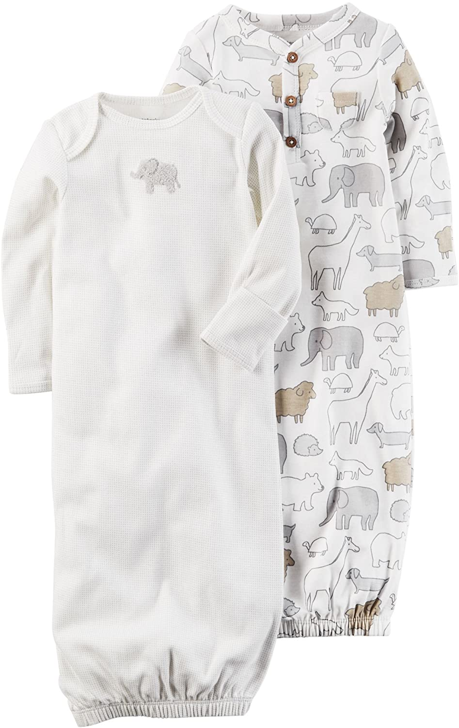 Carter's Unisex Baby 2-Pack Gowns 3 months Carter' s 126G707