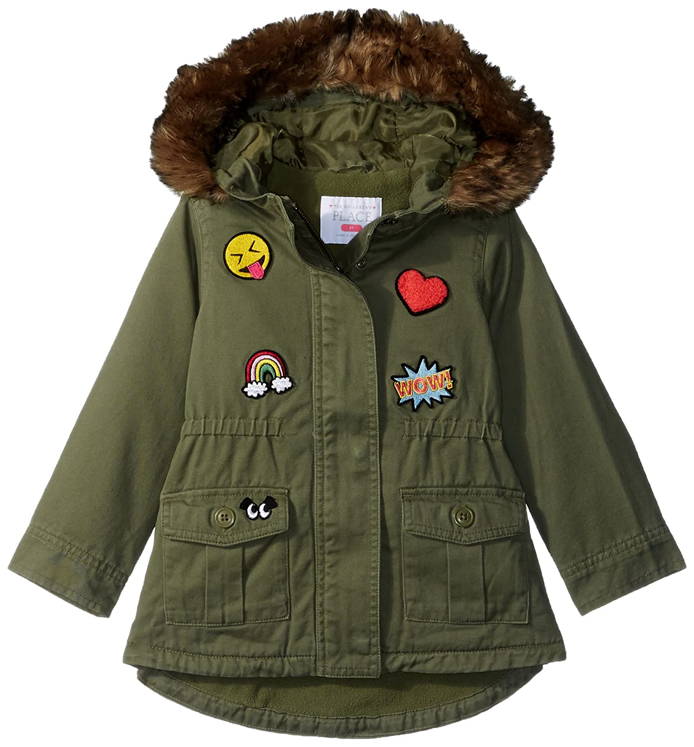 The Children's Place Baby Girls' Patch Parka 2083956