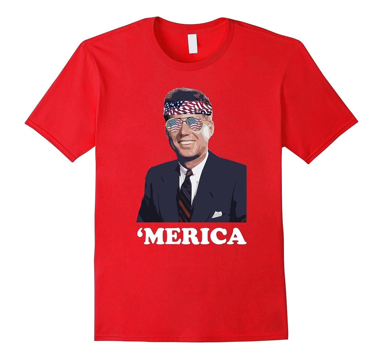 Funny John F. Kennedy JFK 'Merica Shirt Patriotic & American-TH